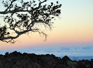 sunset from atop Mauna Loa